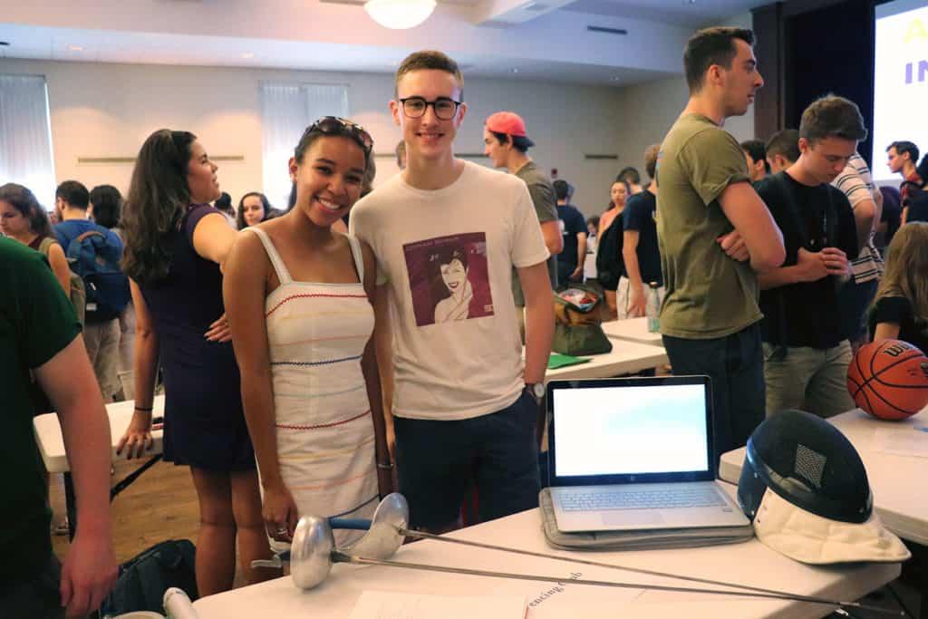 students at activities fair