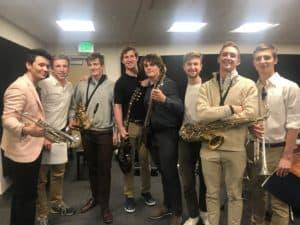 Group photo of jazz ensemble.