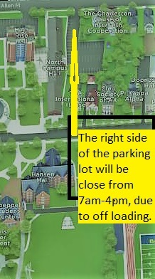map of the north campus parking lot