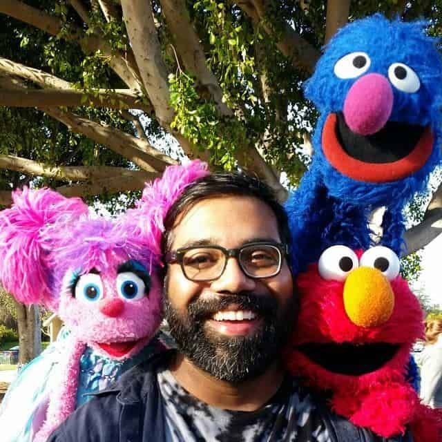 Ian with muppets