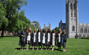 women's lacrosse graduation ceremony