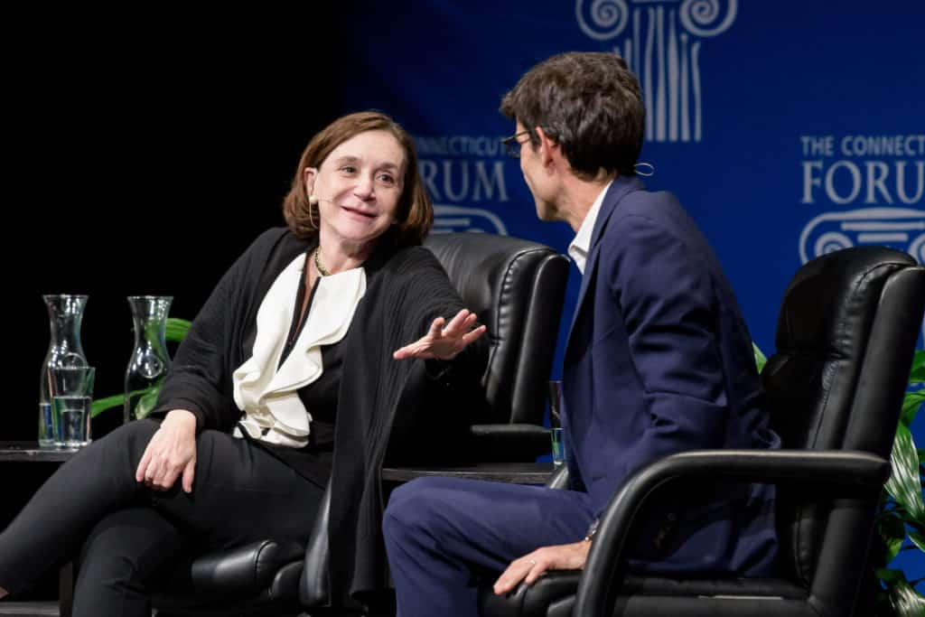 Sherry Turkle and Nicholas Thompson at the Connecticut Forum