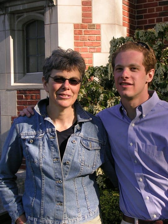 Gabriel Hornung and mother
