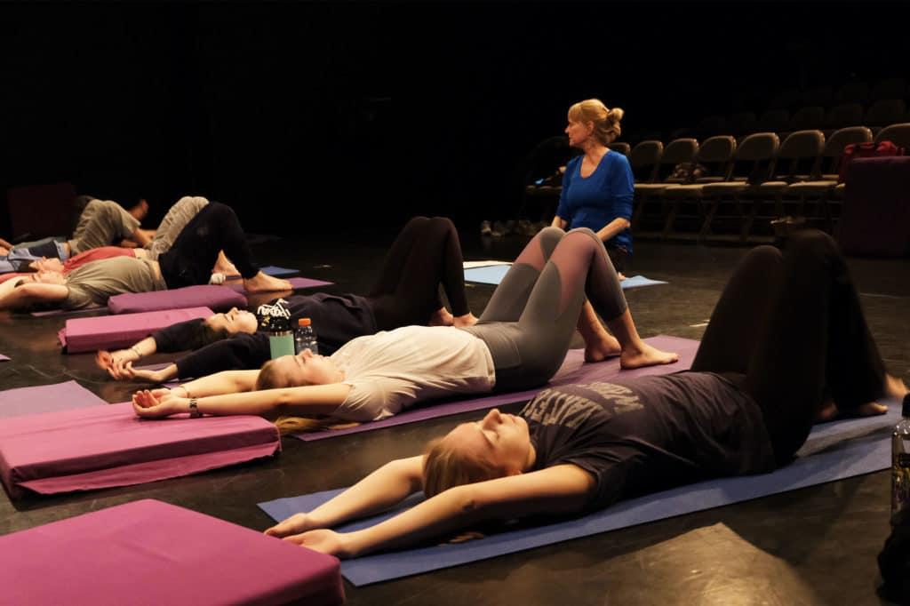 Yoga class during J-Term