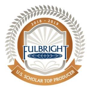 Fulbright U.S. Scholar Top Producer logo