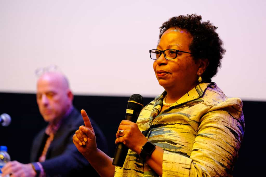 President Berger-Sweeney at 'Unlikely' film screening panel discussion