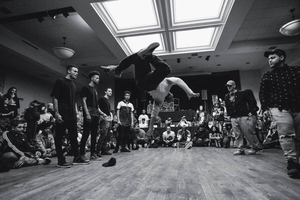 A hip hop dancer performs