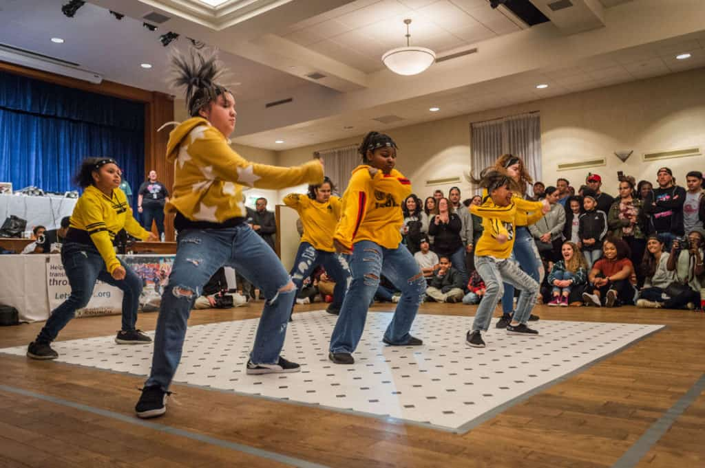 Students perform during the Trinity 'Til Infinity 2.0 Battle Zone.