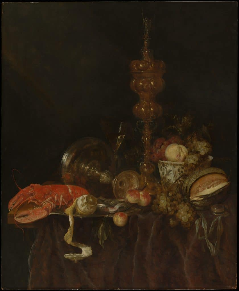 """Still Life with Lobster and Fruit,"" by Abraham van Beyeren"