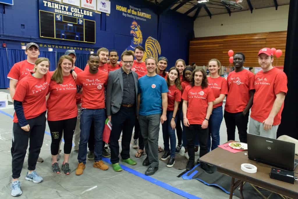 Trinity robot contest volunteers