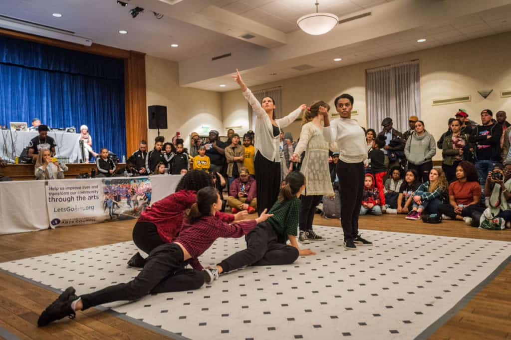 Student dancers perform