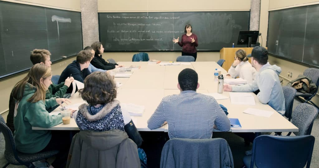 Meredith Safran teaching students in classroom