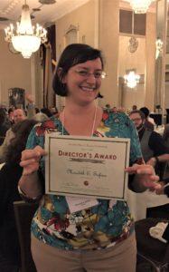 Meredith Safran with award