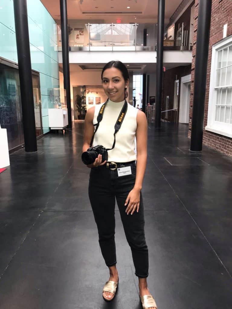 Erica Phiansunthon '21 in her summer internship at the Morris Museum in Morristown, New Jersey.