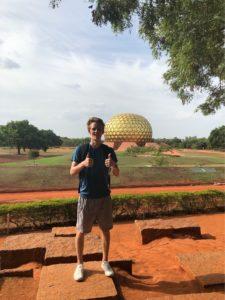 Robin Bartlett '22 in Auroville, India.