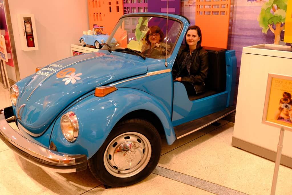 Allison Horrocks '09 and Mary Mahoney '09 explore Julie's Groovy World