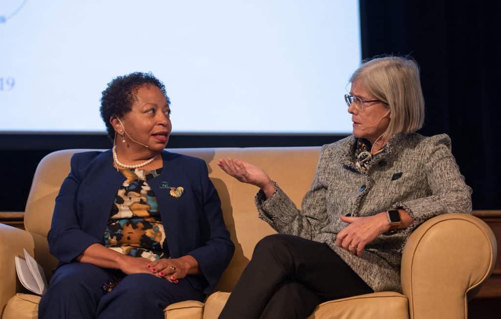 Joanne Berger-Sweeney and Cornelia P. Thornburgh discuss 'Women in Leadership