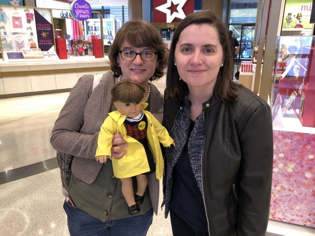 'American Girls' podcast co-hosts Allison Horrocks '09 and Mary Mahoney '09