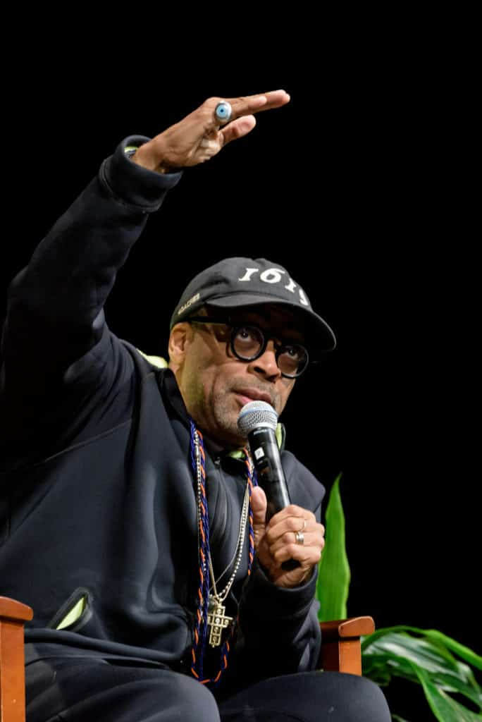 Director Spike Lee talks about his films at the Connecticut Forum event hosted by Trinity College.