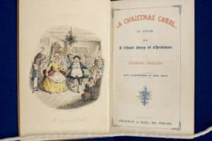 """Charles Dickens's """"A Christmas Carol,"""" illustrated by John Leech, 1843."""