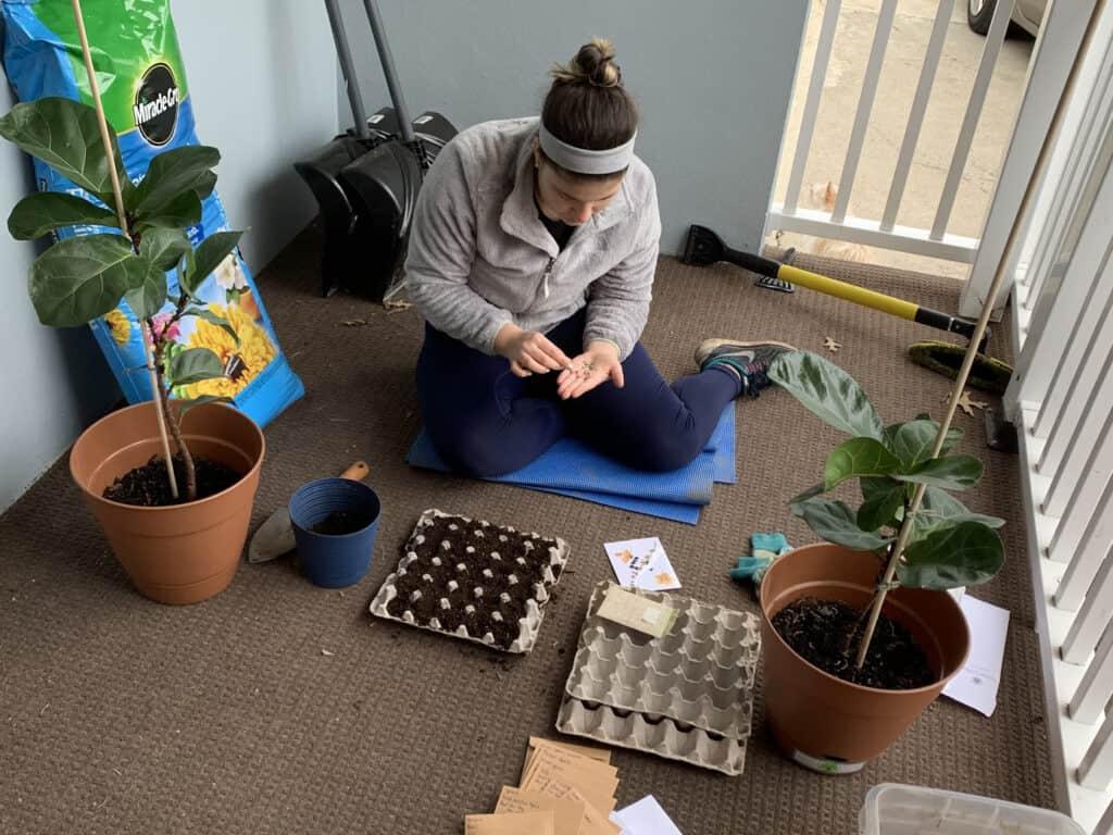 Rose Rodriguez gardening