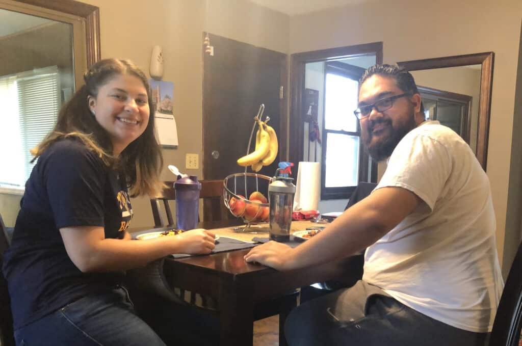 Rose Rodriguez has lunch with fiancé Juan Hernandez '13 M'15