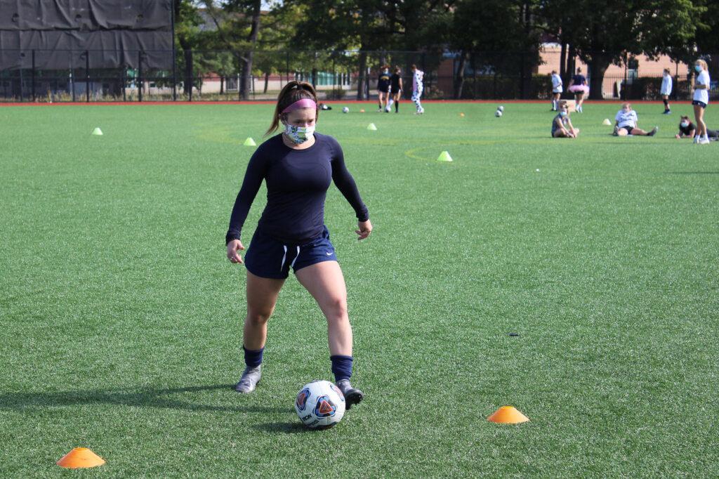 athletics women's soccer fall 2020 practice COVID