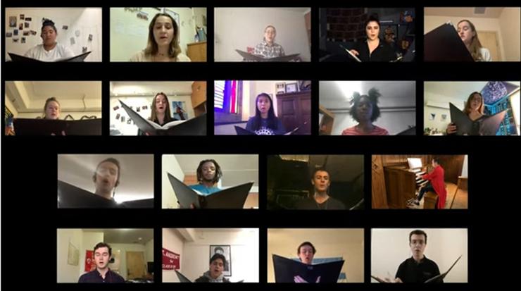 The Chapel Singers Zoom practice