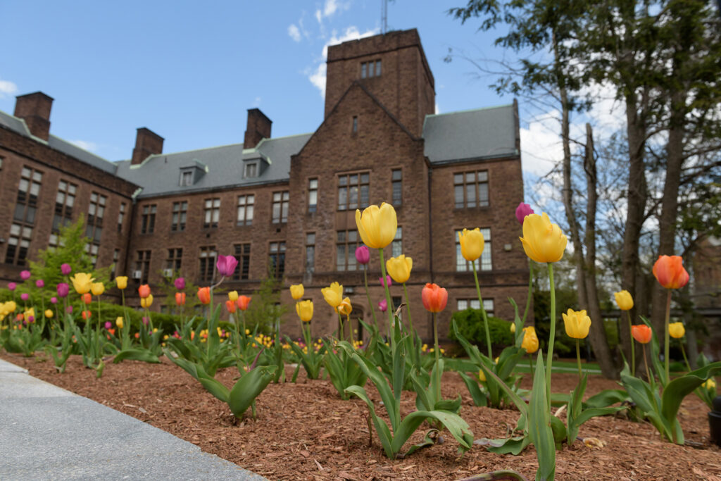 campus during COVID shutdown