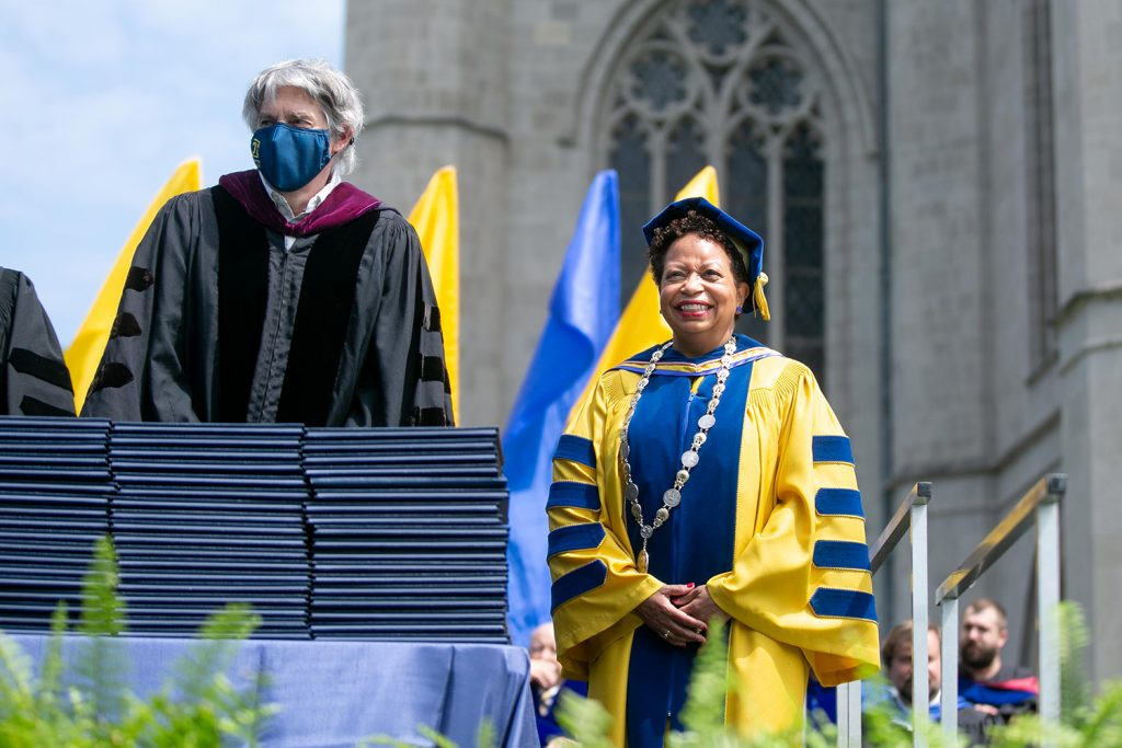 Trinity College President Joanne Berger-Sweeney Commencement 2021